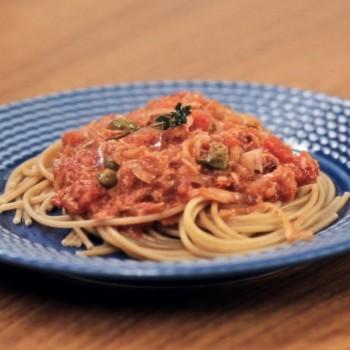 Spaghetti Integral com atum