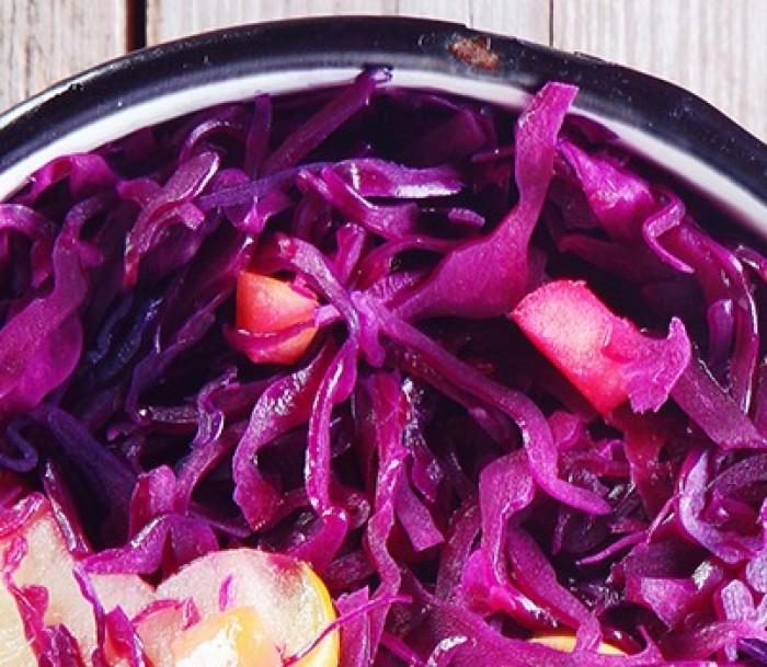 Salada de repolho com maçãs