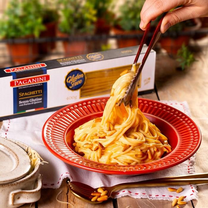 Spaghetti Sem Glúten com molho de queijos