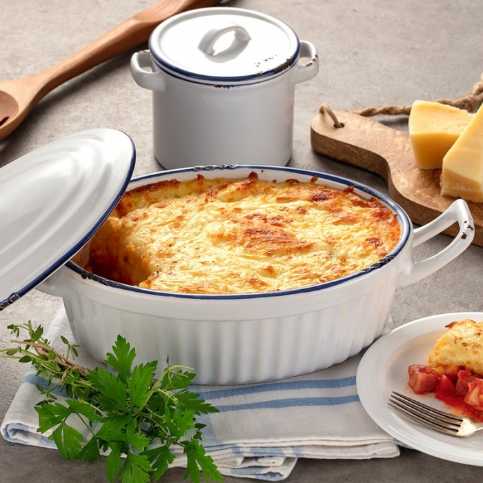 Polenta recheada com calabresa e queijo