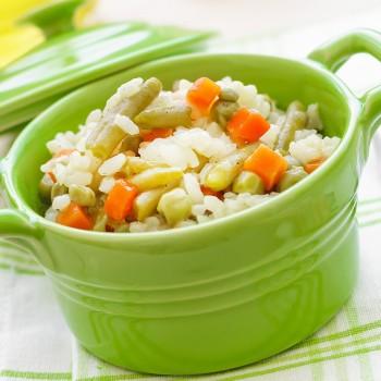 Risoto de legumes ao forno